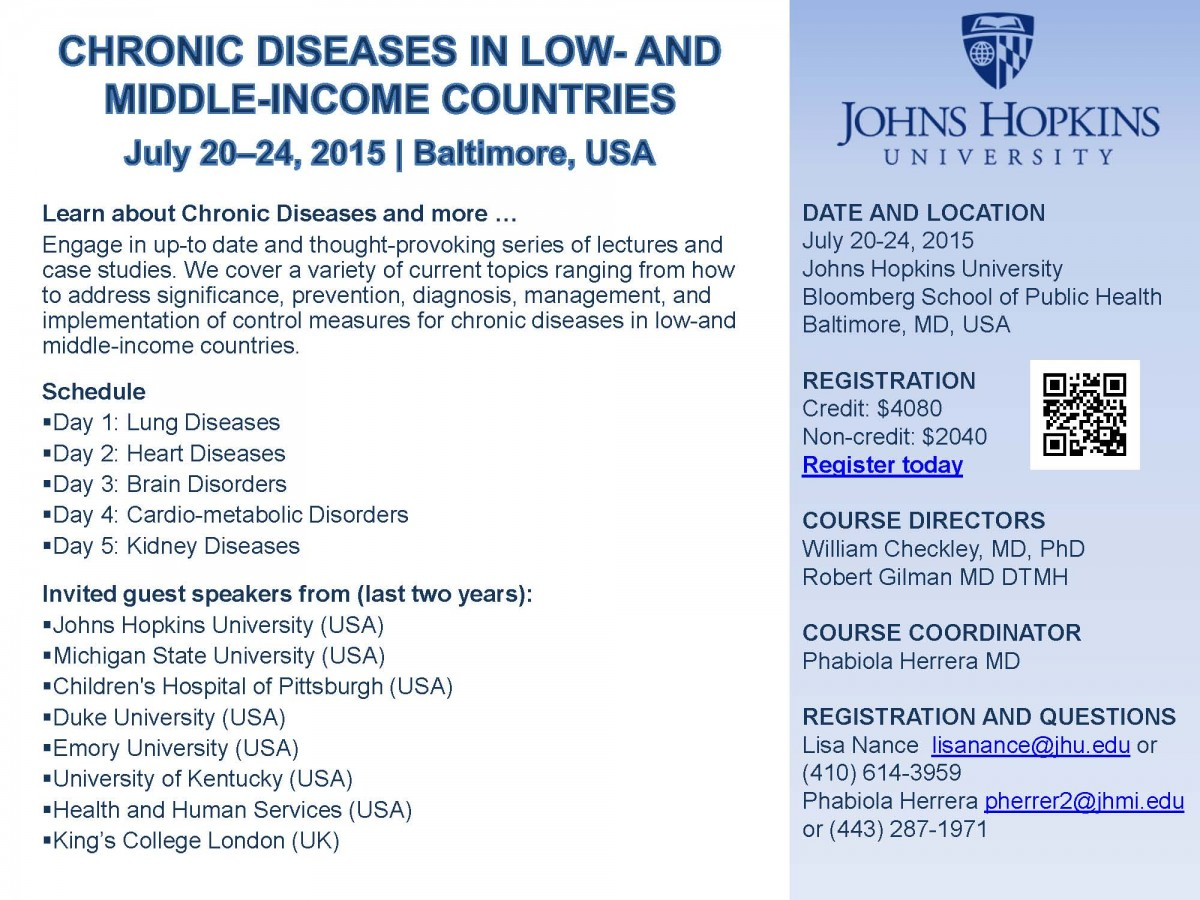 Flyer LMIC Chronic Disease Course 3-2-15