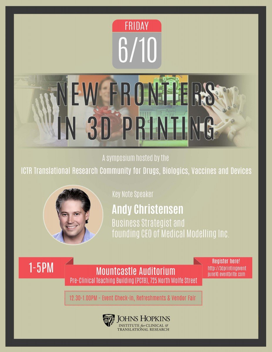 3D Printing Symposium Final Flyer