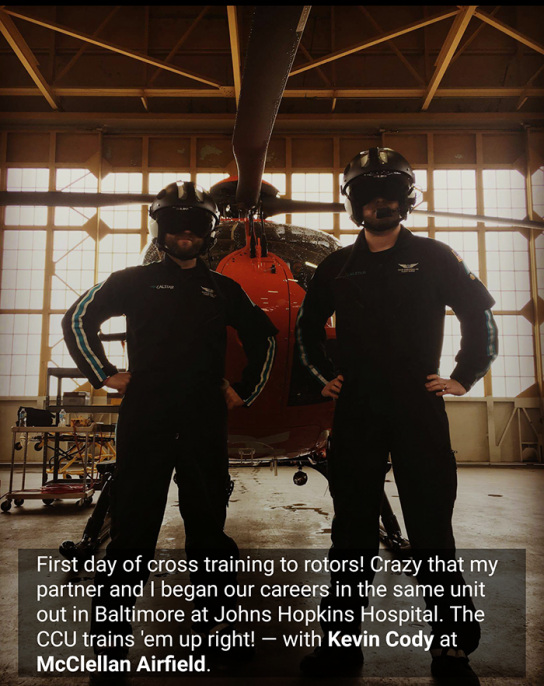 Daivd Duranceau and Kevin Cody now work together on a helicopter in California