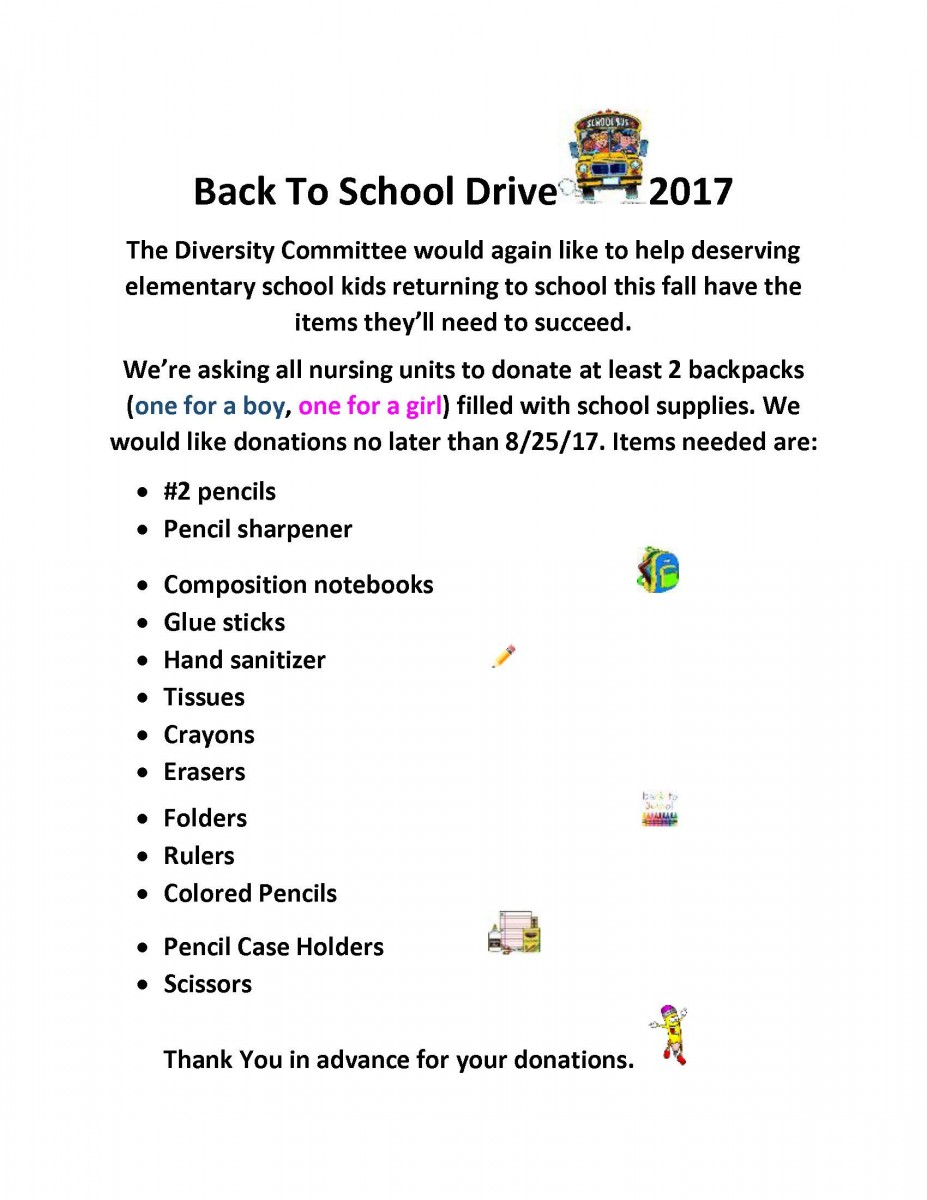 Back To School Drive Flyer 2017