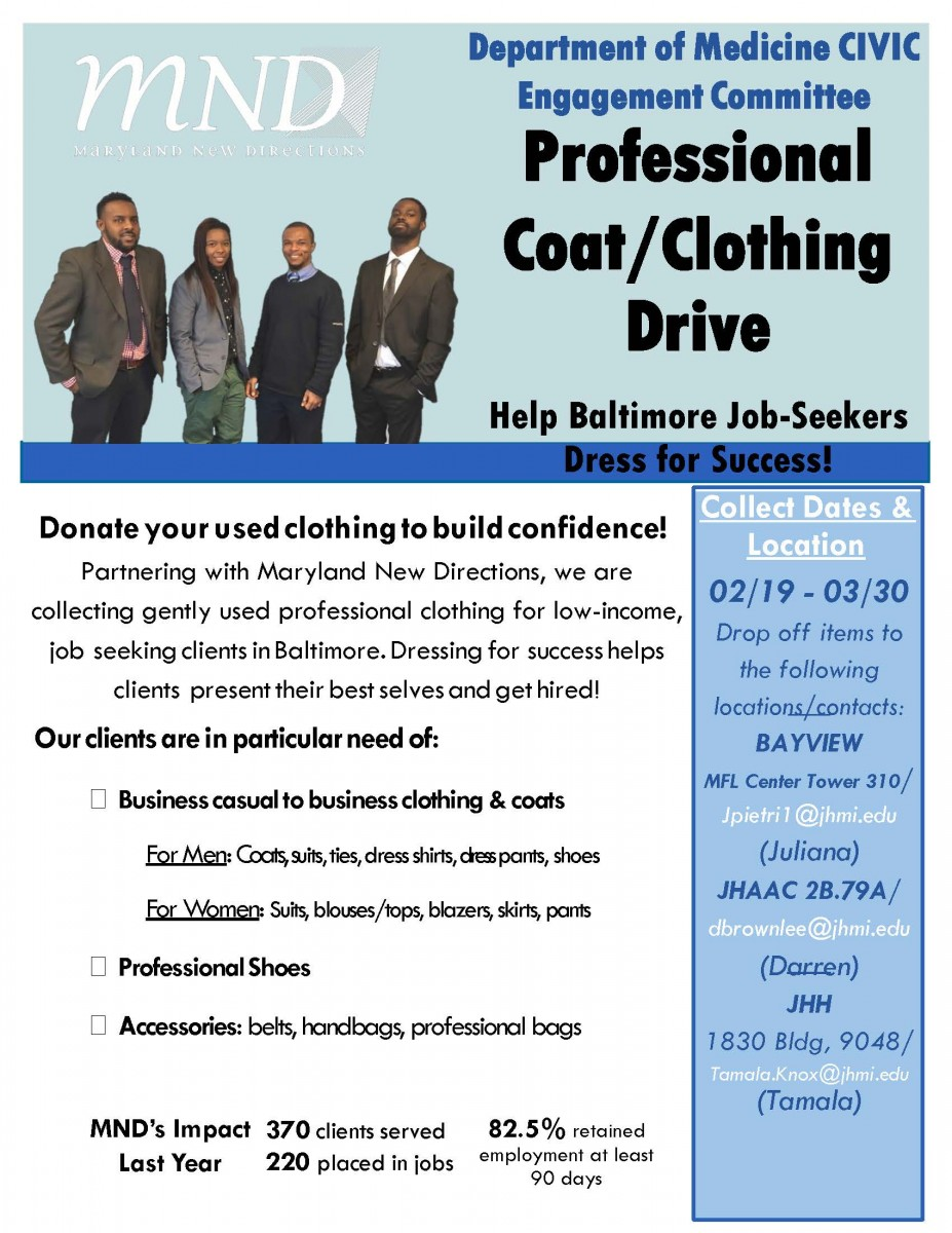 DOM Civic Engagement Committee - Clothing Drive Feb. 2018[1]