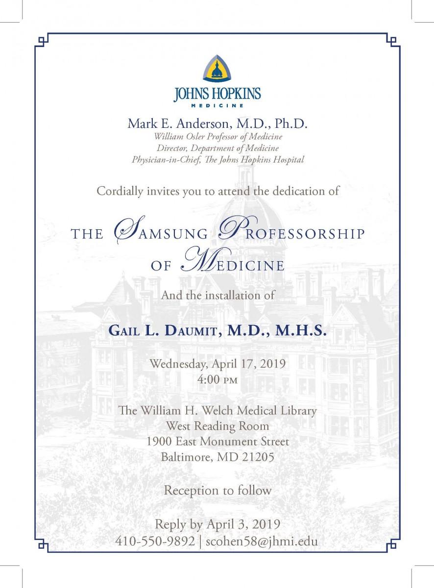 Samsung Professorship - Ceremony Invitation