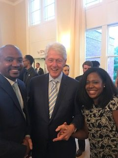 Irvin photo with President Bill Clinton