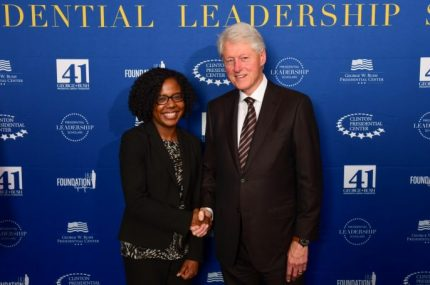 Photo with president clinton