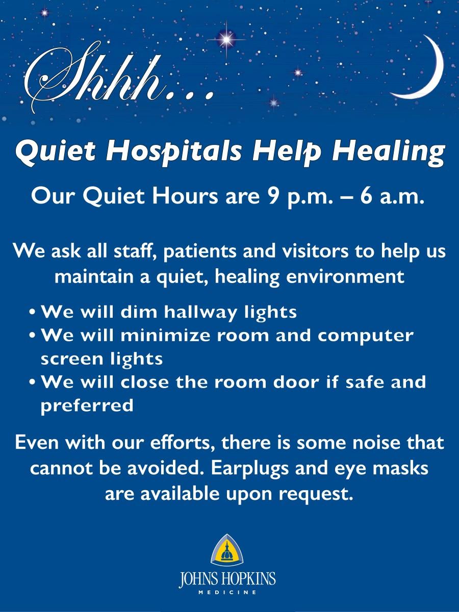 Quiet Hours Poster