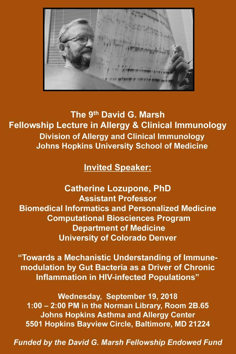 David G Marsh Lecture announcement