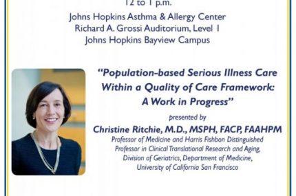 Invitation Elizabeth L. Rogers, MD Lecture - November 13, 2018