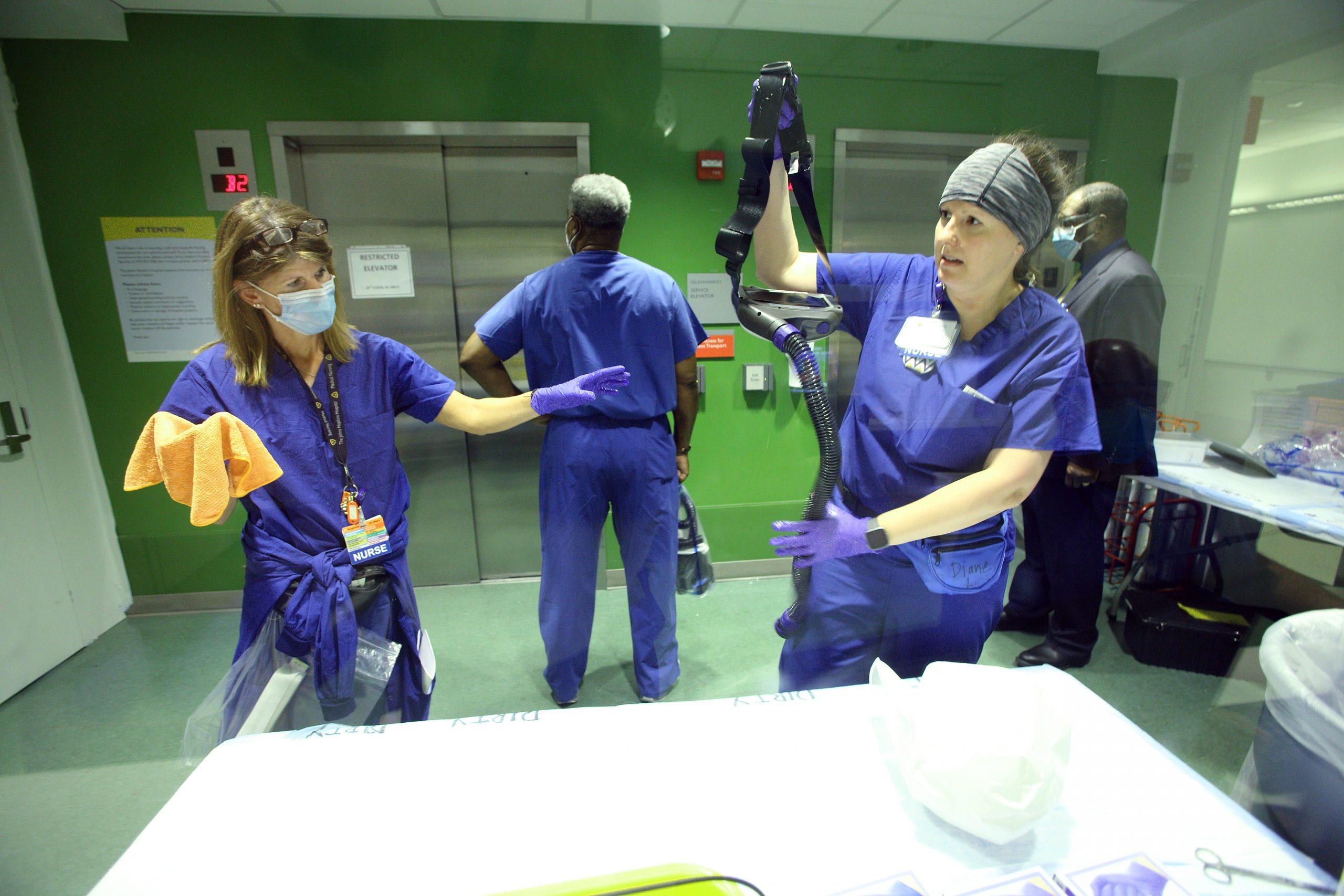 COVID JHH 56 - Nelson 8 Covid Acute DOFFING Deborah Kraft RN, Diane Lewicki BSN