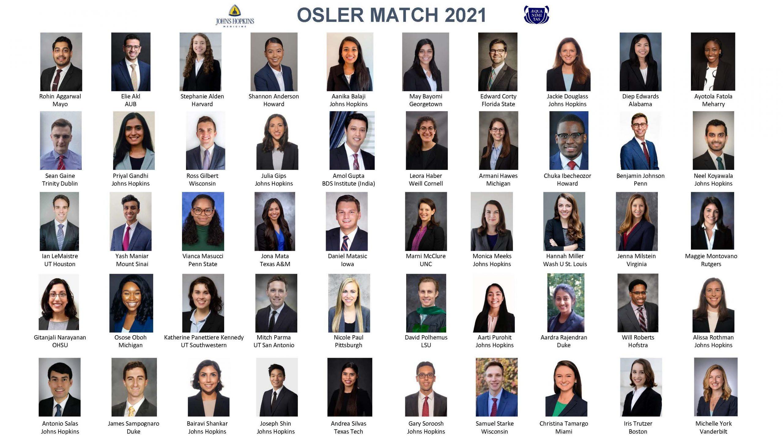 Osler Match 2021